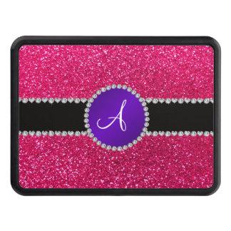 Círculo púrpura del diamante del brillo del rosa c tapa de tráiler