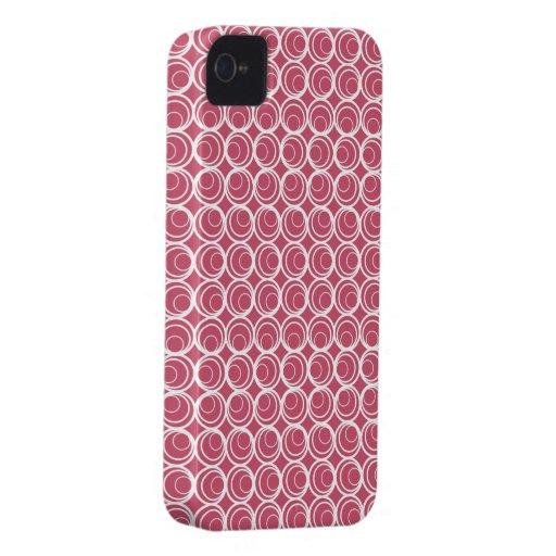 Círculo retro en rosa del círculo Case-Mate iPhone 4 cobertura
