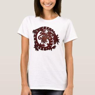 Círculo rojo 2 del dragón - camiseta