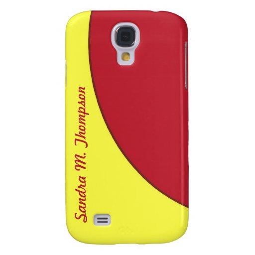 círculo rojo de la MOD del amarillo Funda Samsung S4