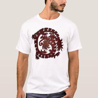 Círculo rojo del dragón - camiseta