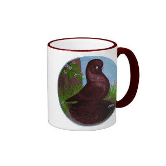 Círculo rojo del vaso taza de café