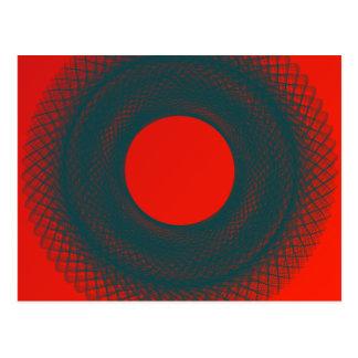 círculo rojo tarjetas postales