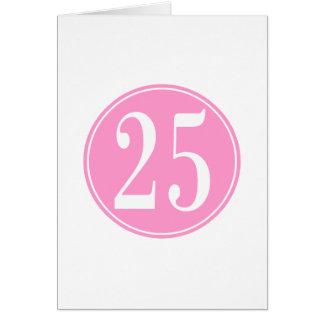 Círculo rosado #25 felicitacion