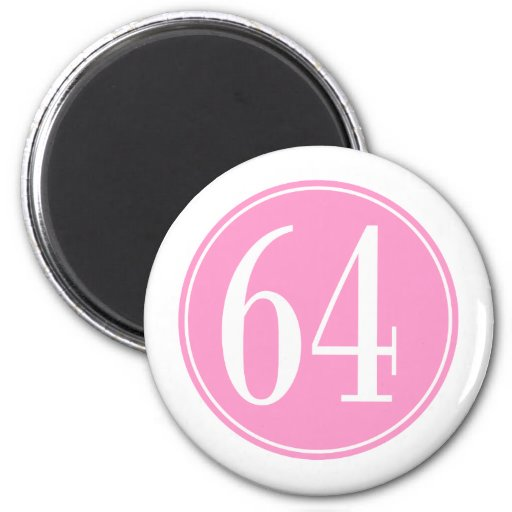 Círculo rosado #64 imán redondo 5 cm