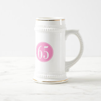 Círculo rosado #65 jarra de cerveza