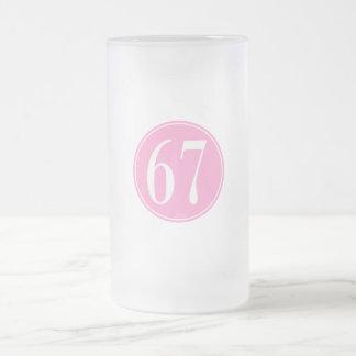 Círculo rosado #67 jarra de cerveza esmerilada