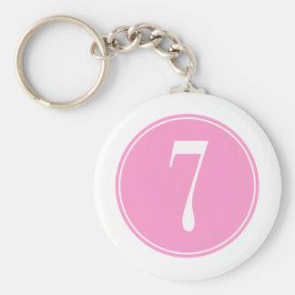 Círculo rosado #7 llaveros