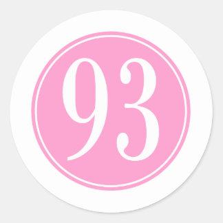 Círculo rosado #93 pegatinas redondas