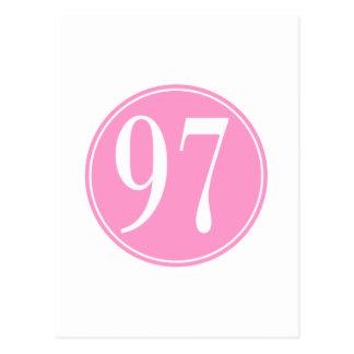 Círculo rosado #97 tarjetas postales
