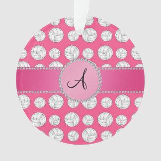 Círculo rosado de los voleiboles rosados del monog