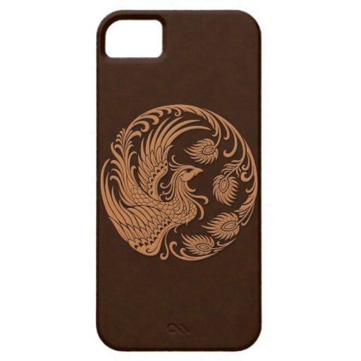 Círculo tradicional de Brown Phoenix iPhone 5 Fundas