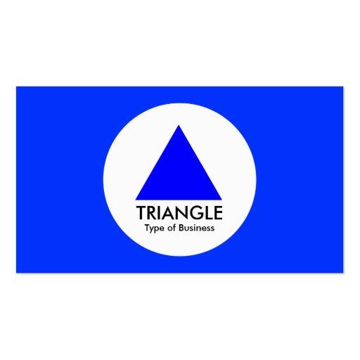 Círculo - triángulo - azul tarjetas de visita