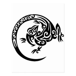 Círculo tribal del lagarto postal