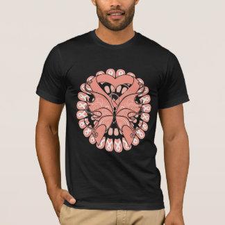 Círculo uterino de la mariposa del cáncer de playera