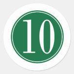 Círculo verde #10 pegatina redonda