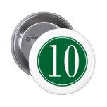 Círculo verde #10 pins