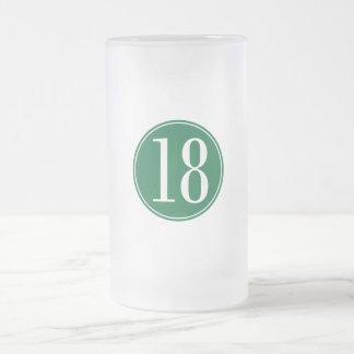 Círculo verde #18 jarra de cerveza esmerilada