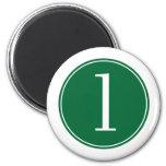 Círculo verde #1 iman para frigorífico