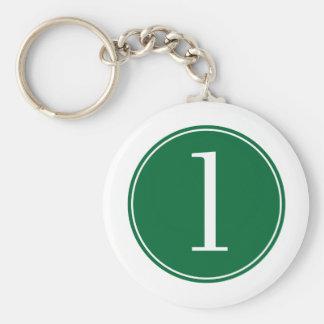 Círculo verde #1 llavero personalizado