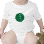 Círculo verde #1 traje de bebé