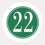 Círculo verde #22 pegatina redonda