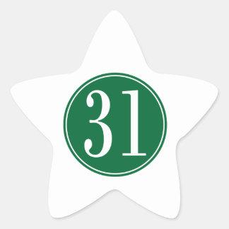 Círculo verde #31 calcomanía cuadrada