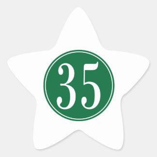 Círculo verde #35 calcomanías forma de estrellas