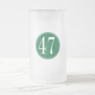 Círculo verde #47 jarra de cerveza esmerilada