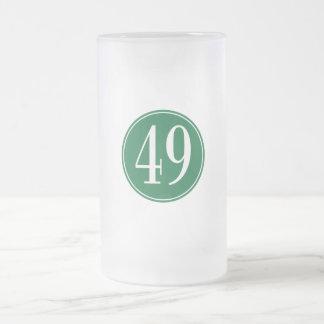 Círculo verde #49 jarra de cerveza esmerilada