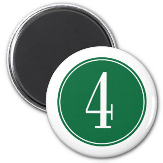 Círculo verde #4 imanes de nevera