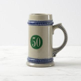 Círculo verde #50 jarra de cerveza