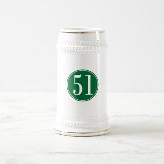 Círculo verde #51 jarra de cerveza