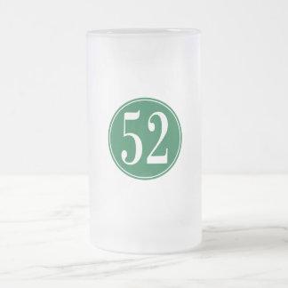 Círculo verde #53 jarra de cerveza esmerilada