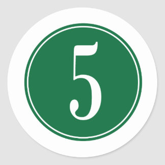 Círculo verde #5 pegatina redonda