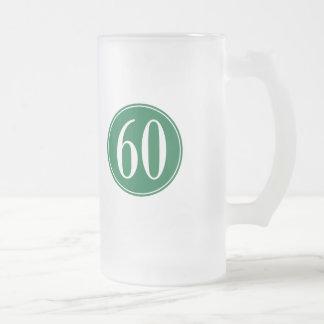 Círculo verde #60 jarra de cerveza esmerilada