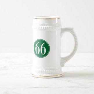 Círculo verde #66 jarra de cerveza