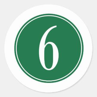 Círculo verde #6 etiqueta redonda