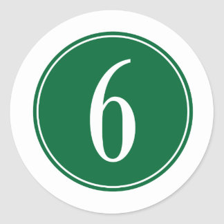 Círculo verde #6 pegatina redonda