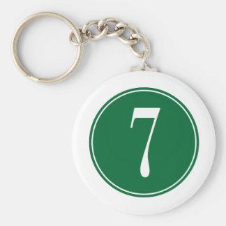 Círculo verde #7 llaveros