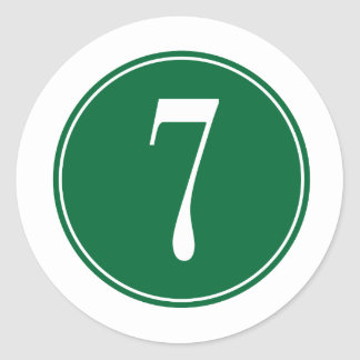 Círculo verde #7 etiquetas redondas