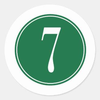 Círculo verde #7 pegatina redonda