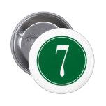 Círculo verde #7 pins