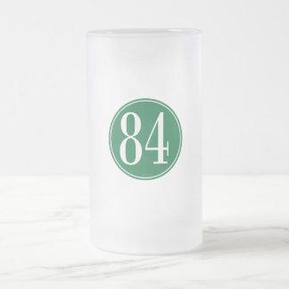 Círculo verde #84 jarra de cerveza esmerilada