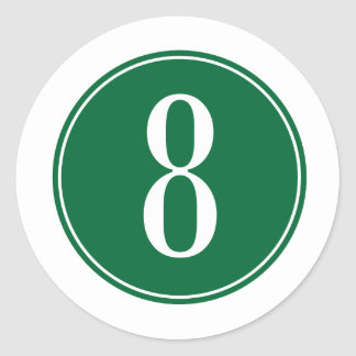 Círculo verde #8 pegatina redonda