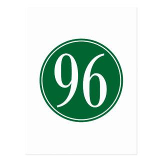Círculo verde 96 postal