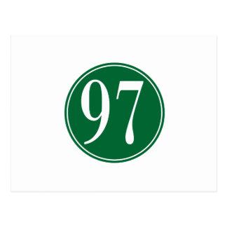 Círculo verde #97 tarjetas postales