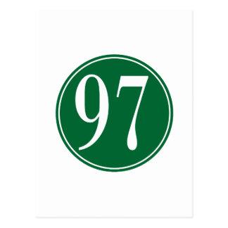 Círculo verde #97 postales