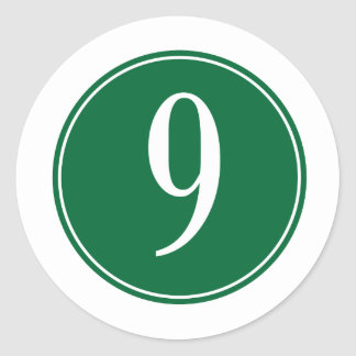 Círculo verde #9 pegatina redonda