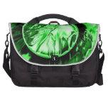 Círculo verde bolsas de portatil